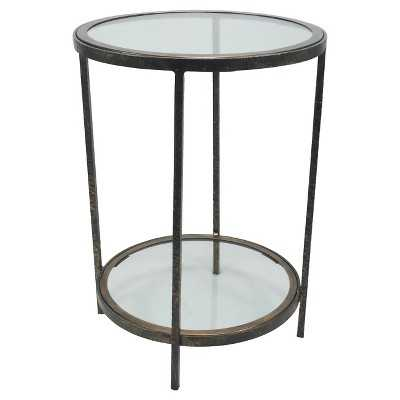 "Thresholdâ""¢ Round Metal and Glass Accent Table - Target"
