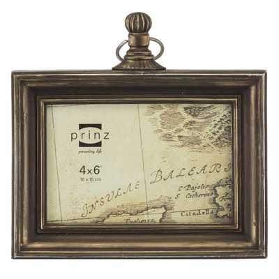 "Pocket Watch Resin Picture Frame - 6""x4"" - Wayfair"