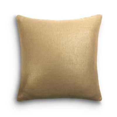 SIMPLE THROW PILLOW | in metallic linen - gilt - Loom Decor