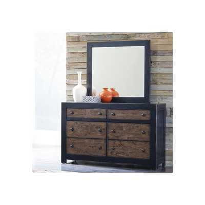Emerfield 6 Drawer Dresser with Mirror - Wayfair