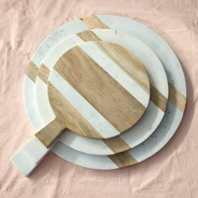 Marble & Wood Serving Board-Medium - shopterrain.com
