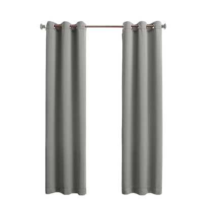 "Tammy Light Blocking Single Curtain Panel - Gray - 84"" L x 40"" W - Wayfair"