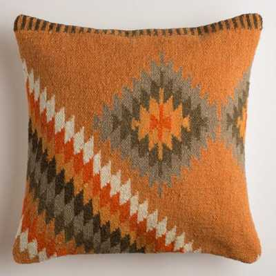 Orange Montesilvano Wool Throw Pillow - World Market/Cost Plus