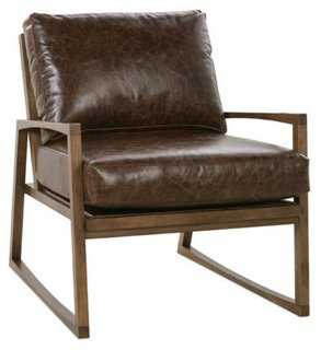 Markus Leather Accent Chair - One Kings Lane