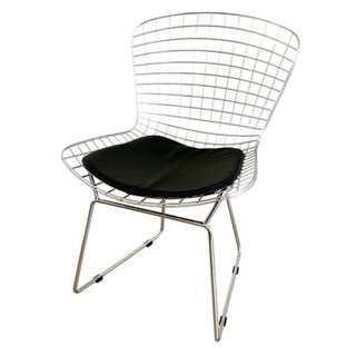 Chrome Faux Leather Modern Chair - Overstock