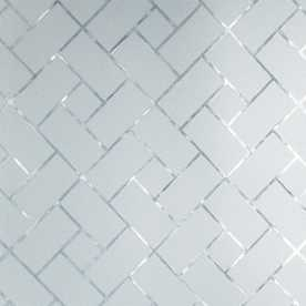 GILA 36-in W x 78-in L Versailles Frosted Privacy/Decorative Static Cling Window Film - Lowes