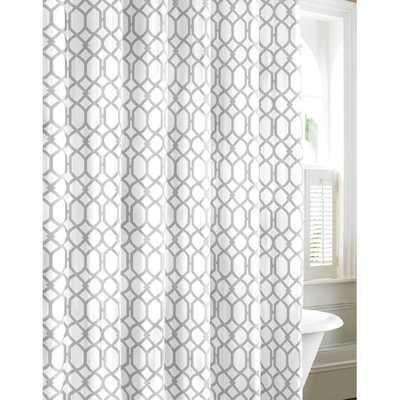 Shoretwon Trellis Cotton Shower Curtain - Wayfair