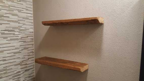 Reclaimed barn wood floating shelves - Etsy