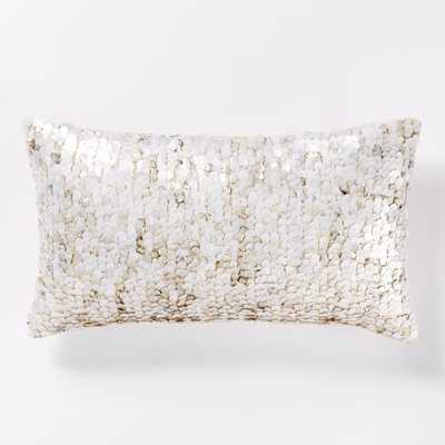 "Overlay Sequin Pillow Cover, 12""w x 21""l - Insert sold separately - West Elm"