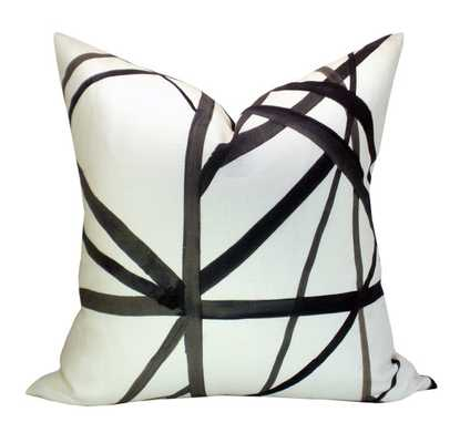 "Kelly Wearstler Channels pillow cover in Ebony/Ivory - 20 x 20"" - no insert - Etsy"