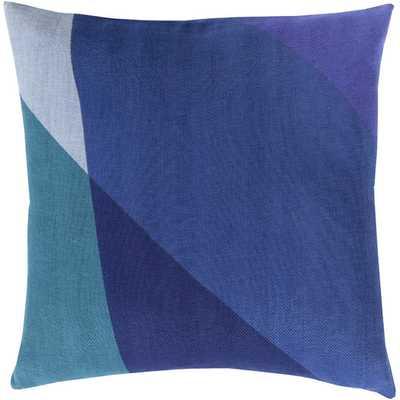 """Geometric Cotton Throw Pillow - Cobalt - 18"""" - with insert - AllModern"""