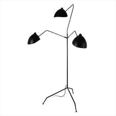MID CENTURY 3-ARM FLOOR LAMP - blackroosterdecor.com