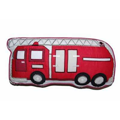 Fire Truck Decorative Pillow - 22x11 - With Insert - Overstock
