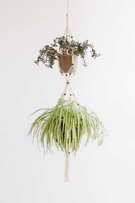 Saffron Macrame Planter - Urban Outfitters