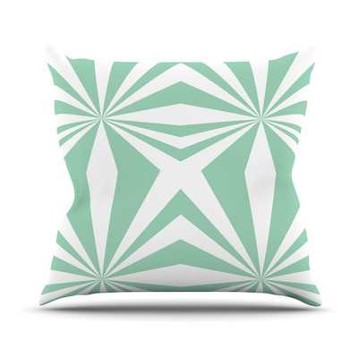 "Starburst by Project M Outdoor Throw Pillow, 16""Sq, Mint - Wayfair"