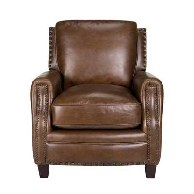 Bradford II Leather Chair Arm Chair - Wayfair