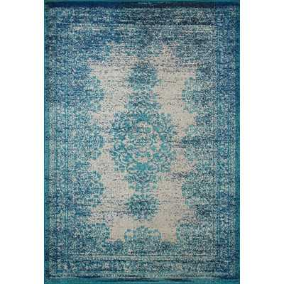 "Moriah Blue Vintage Area Rug, 7'10"" x 11' - Wayfair"