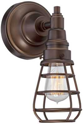 "Bendlin Industrial 12"" High Oil-Rubbed Bronze Wall Sconce - Lamps Plus"