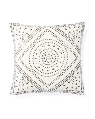 """Camille Diamond Medallion Pillow Cover - Ivory - 20""""SQ - Insert sold separately - Serena and Lily"""