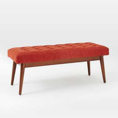 Mid-Century Upholstered Bench - West Elm