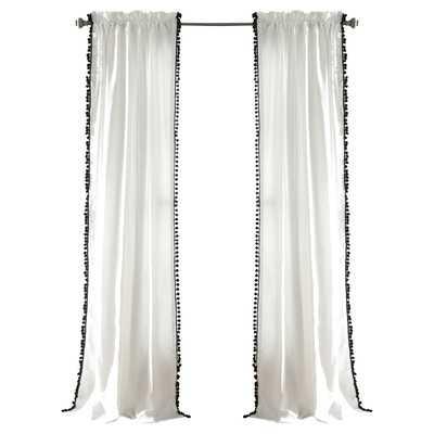 Pom Pom Single Curtain Panel - Wayfair