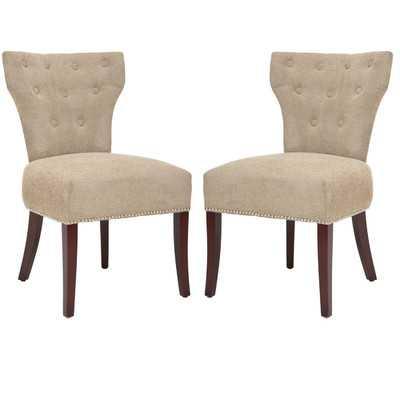 Ethan Fabric Slipper Chair set of 2 - Wayfair