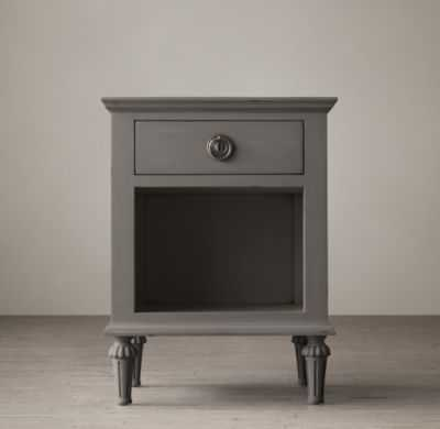 "20"" MAISON OPEN NIGHTSTAND - Antiqued Grey - RH"
