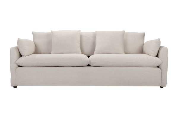 Cameron Sofa in White Linen - capsulehome.com