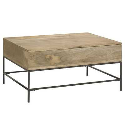 Industrial Storage Coffee Table - Small,-Raw Mango - West Elm