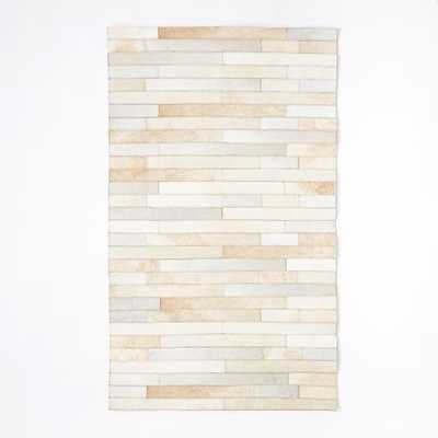 Pieced + Patched Cowhide Rug - 3'x5' - West Elm