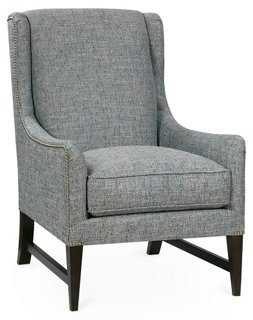 Miller Wingback Chair, Ice Blue - One Kings Lane