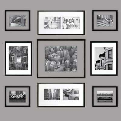 "Gallery Perfect 9-Piece Matted and Float Frame Kit-25.3"" L x 24.1.""-Framed-With Mat - Bed Bath & Beyond"