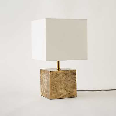 Faux Bois Metal Table Lamp - West Elm
