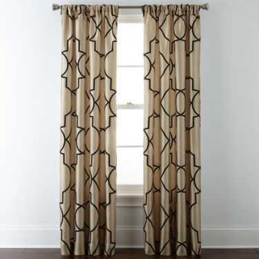 Liz Claiborne® Gallery Scroll Rod-Pocket Curtain Panel - JC Penney