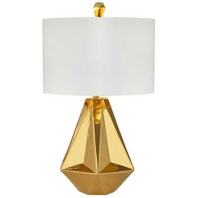 """Geometric 30"""" H Table Lamp with Drum Shade - AllModern"""
