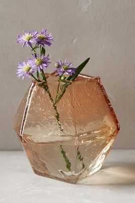 Faceted Gem Vase - Pink - Medium - Anthropologie