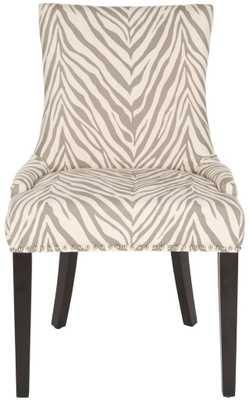 Lester Dining Chair (Set Of 2), Grey Zebra - Tressle
