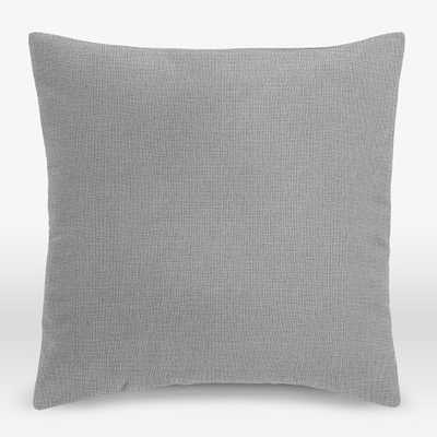 Upholstery Fabric Pillow Cover - Heathered Crosshatch - West Elm