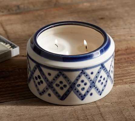 Rhea Candle Pot - Pottery Barn