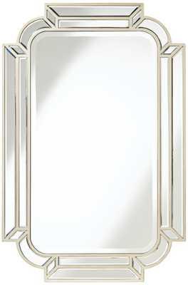 "Esbon Double Crown Champagne 25""x38"" Wall Mirror - Lamps Plus"