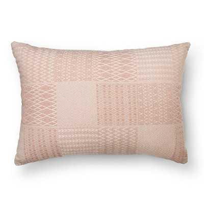 """Thresholdâ""""¢ Woven Patchwork Blush Oblong Toss Pillow - Target"""