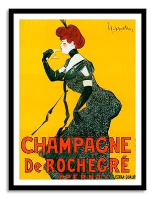 "Champagne - 31"" x 40"" - Framed - Domino"