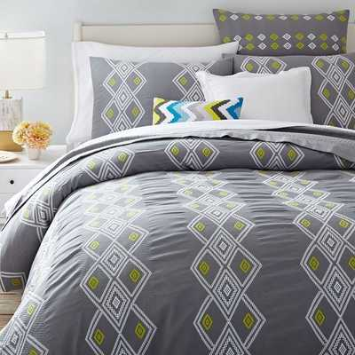 Coyuchi Organic Diamond Dobby Duvet Cover - West Elm