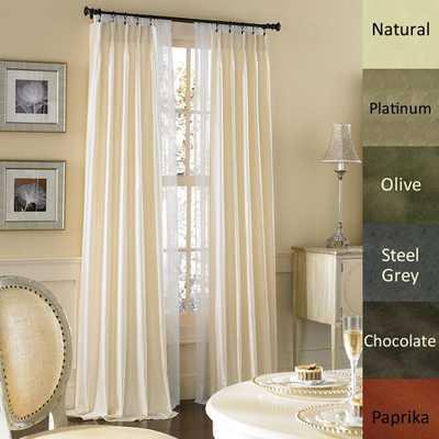 Dupioni Pure Silk-lined Pinch Pleat Curtain Panel - Overstock
