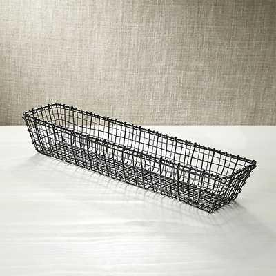 Bendt Rectangle Basket - Crate and Barrel