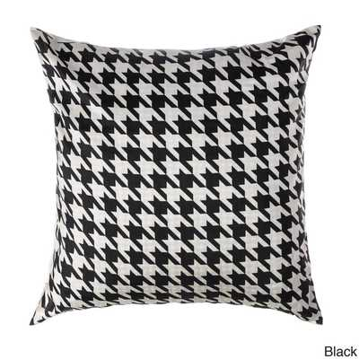 Cassius Houndstooth 20-inch Feather and Down Filled Throw Pillows (Set of 2)-Java - Overstock