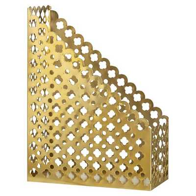 Golden Glam Divided Tray, Gold - Magazine Caddy - Pottery Barn Teen