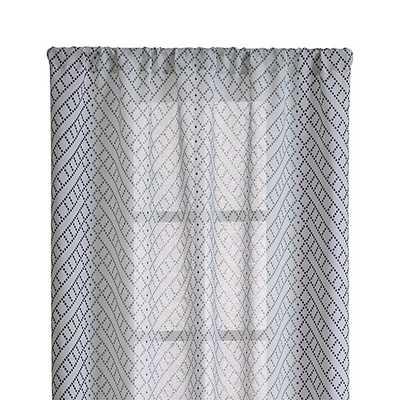 "Lorena Blue Chevron 48""x84"" Curtain Panel - Crate and Barrel"