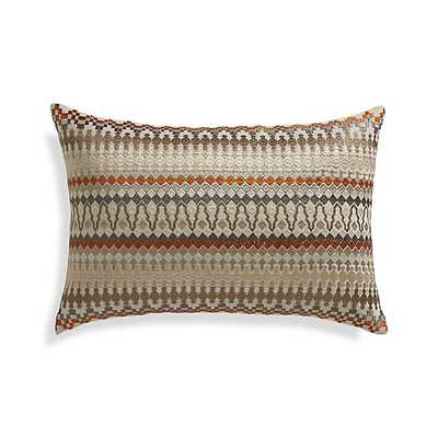 "Karma 18""x12"" Pillow with Feather-Down Insert - Crate and Barrel"
