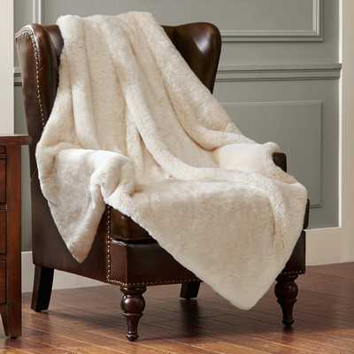 Signature Luxury Faux Fur Throw Blanket - AllModern